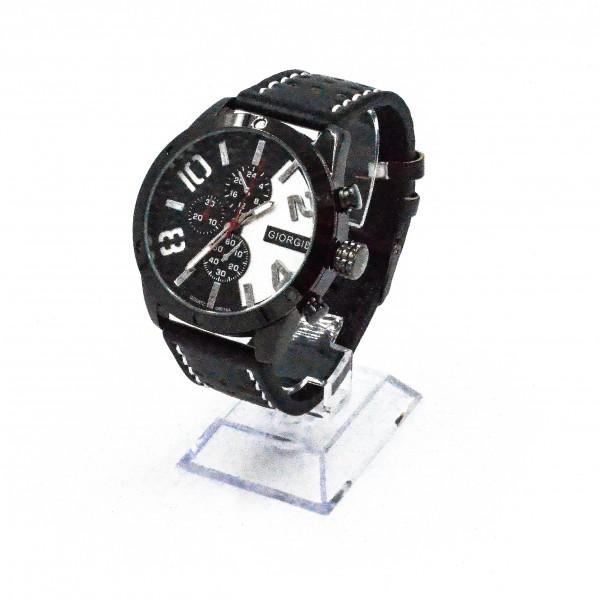 Herren Armbanduhr Hangover TX1 Lederarmband schwarz